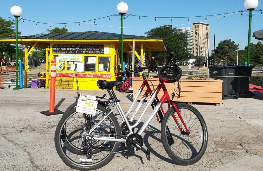 Rent a bike at Dows Lake Pavilion by Escape Bicycle Tours and Rentals in Ottawa. All sizes available daily