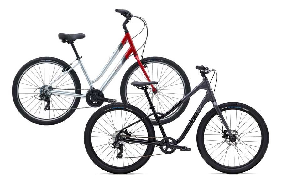 Marin Stinson comfort city bike rentals are available daily at Escape Bicycle Tours and Rentals in Ottawa on Sparks St.