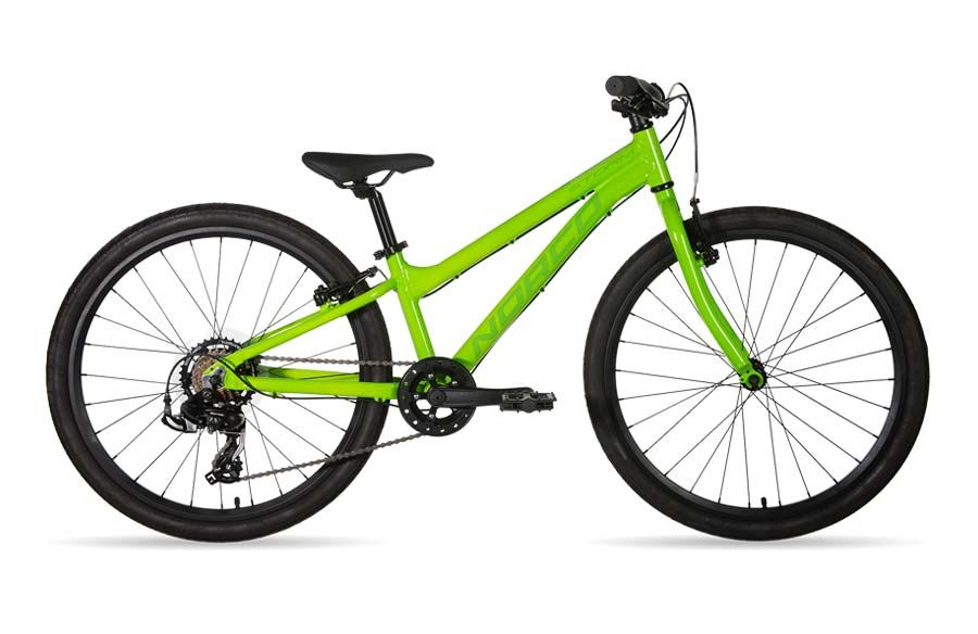 Norco green 24 inch wheel size kids' bike rental in Ottawa at Escape Tours Rentals on Sparks St.. Rent a kids' bike